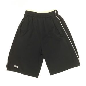 Under Armour black athletic performance shorts